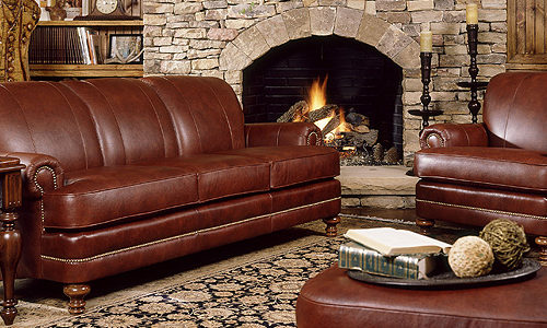 Leather Looks Vinyl by Charlotte Fabrics - The Furniture Specialist