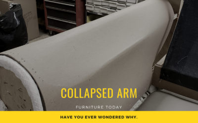 Loveseat Collapsed Arms